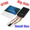 GT06 Carro Mini Perseguidor do GPS SMS GSM GPRS Veículo Online Rastreamento Dispositivo Localizador do Monitor Do Sistema de Alarme de Controle Remoto para Motocicleta
