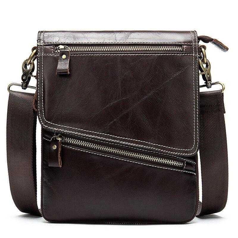 100% Genuine Leather Men Shoulder Bag Crossbody Bags For Men High Quality Bolsas Fashion Messenger Bag For  Ipad100% Genuine Leather Men Shoulder Bag Crossbody Bags For Men High Quality Bolsas Fashion Messenger Bag For  Ipad