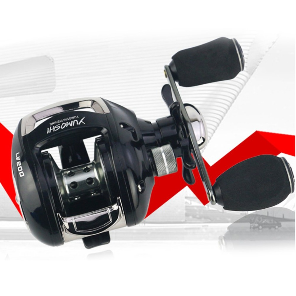 YUMOSHI Fishing Reels 12+1 Ball Bearings 6.2:1 Speed Ratio Bait Casting Fishing Reel with Magnet Brake System LV200