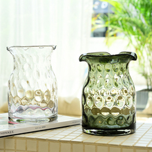 Modern Creative Glass Vase Transparent Tabletop Vases home decoration crafts terrarium glass containers flower pot accessories