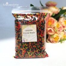 12000 шт./пакет воды бусины кристаллическая почва шарики из гидрогеля рост гель мяч для цветы декоративный свадебный Декор для дома