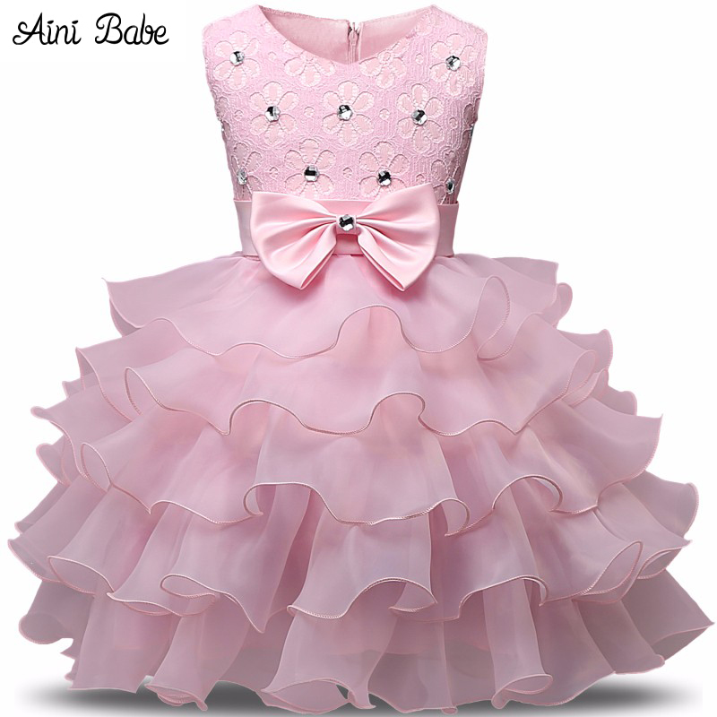 ca70919824ef Aini Babe Girl Dress Summer 0-8 Years Floral Baby Girls Dress ...
