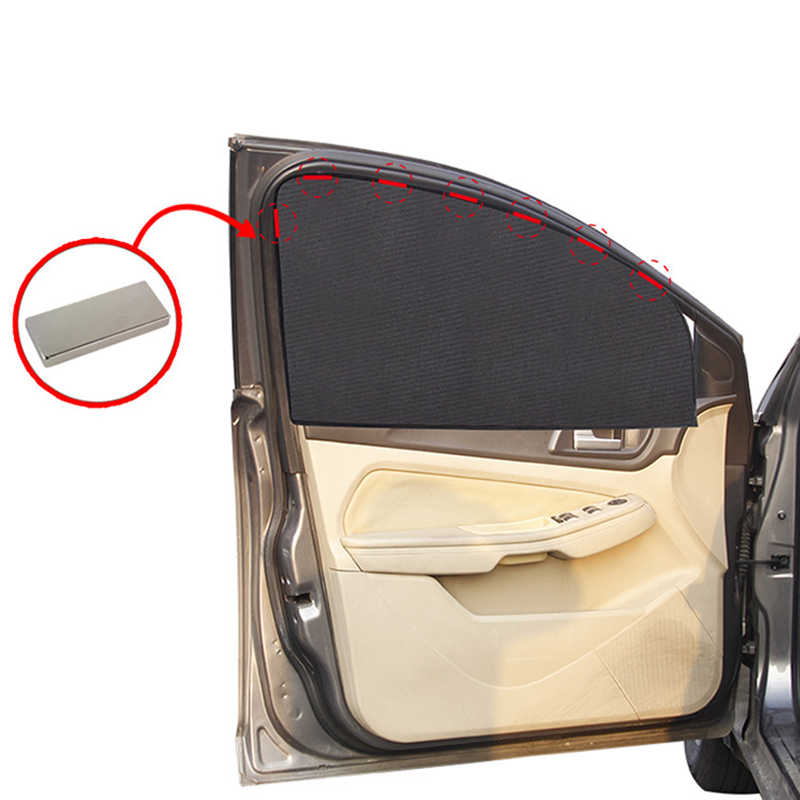 Magnetic Car SunShade Mesh Curtain Summer Side Window Sun shade Vision body protection UV blackout magnet car windshield tulle