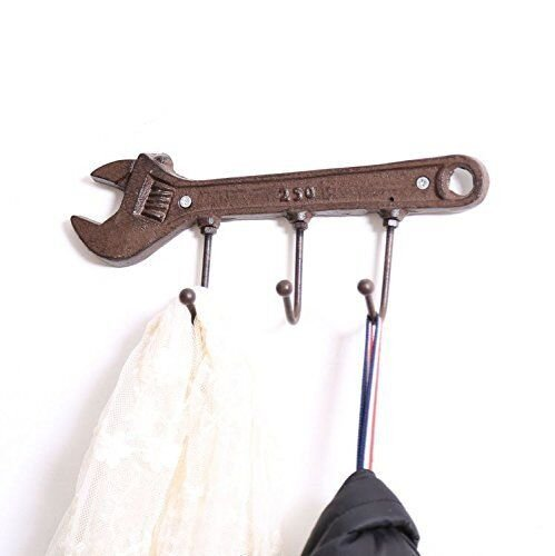 TOPOWER 1-Piece Sets Metal Coat Hooks Wall Decorative Hat Coat Clothes Towel Door Hanger Hooks