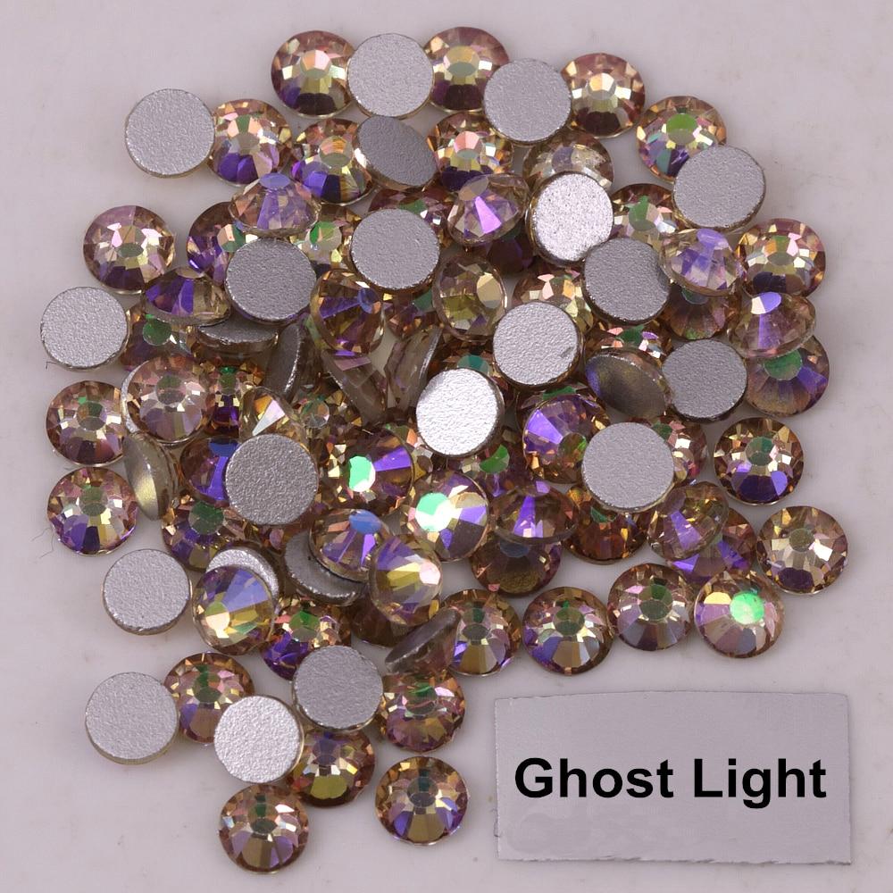 Высококачественный светильник-призрака, приклеенный к плоской задней стороне, стразы без горячей фиксации