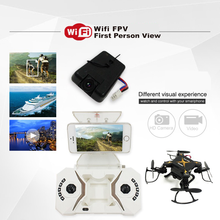 Global Drone Mini Drone with Wifi Camera Headless Mode drones 6 Axis Gyro quadrocopter 2.4GHz 4CH RC Helicopter VS CX10 JJRC H362