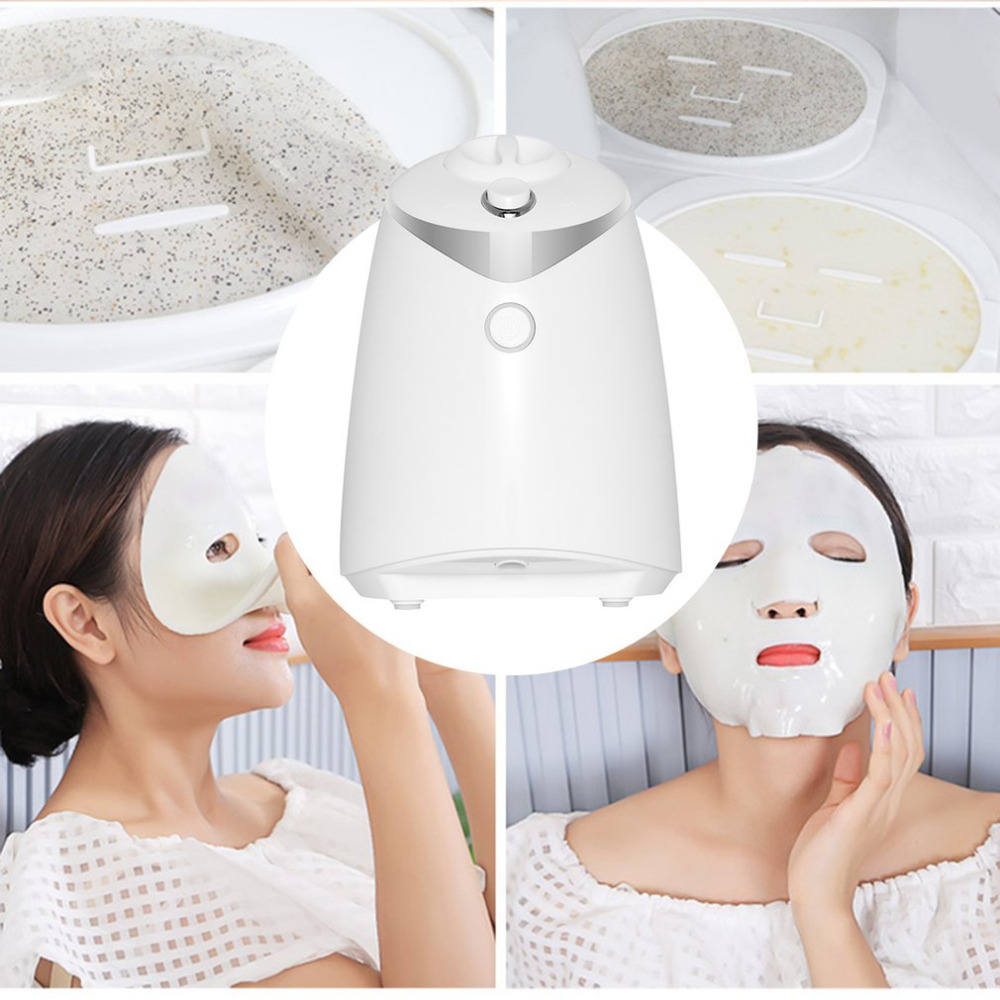 DIY Homemade Fruit Vegetable Beauty Facial Mask Maker Crystal Collagen Powder Machine For Skin Whitening Hydrating Face Care diy natural face mask machine automatic fruit facial mask maker vegetable collagen mask english voice machine face skin care