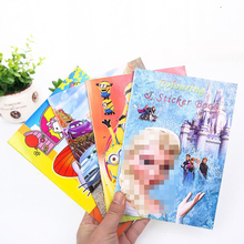 1 pcs Creative Hello Kitty Anime Painting Notebooks Cute cartoon character painting coloring book Coloring book Girl gift