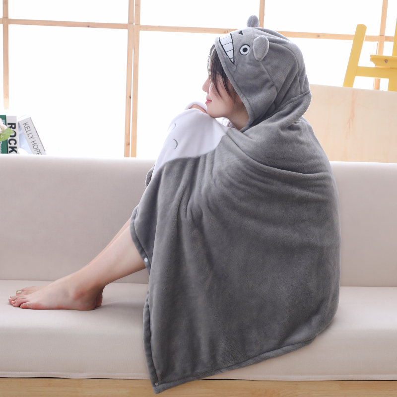 AAA New 145*70cm Plush Toy Stuffed Totoro  Out Blanket  Blanket Mantys Cape  For Kids Xmas New Year Gifts