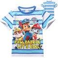 Patrulha de Vestuário Novos meninos de Manga Curta T-shirt dos desenhos animados das crianças camisa do menino t para meninas nova T-Shirt dos miúdos Roupas