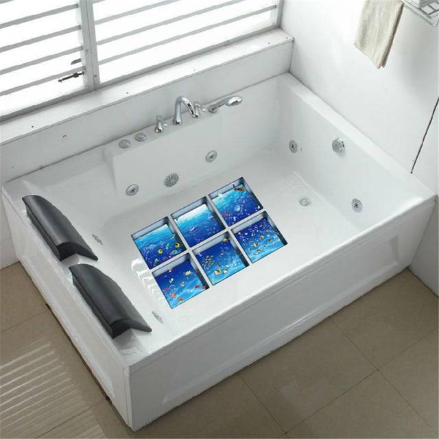 Nuovo Divertente 6 pz 3D vasca da bagno adesivi Ombra Acqua Modello 3D Impermeab