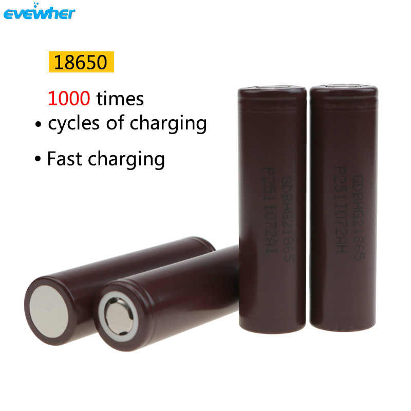 4pcs/lot 18650 Battery Originally Cell Phone Real Capacity 2500mah 3.7 Voltage Li Batery Recharger Suitable TOMO Charger