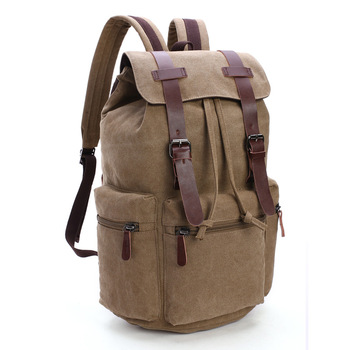 Large Capacity Men Canvas Backpack Mochila School Bags For Teeagers Boys Girls Drawing String Travel Backpack Casual Laptop Bag