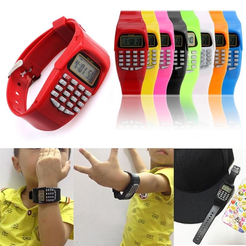 Silicone Date Multi-Purpose Fashion Child Kid Electronic Calculator Wrist WatchSilicone Date Multi-Purpose Fashion Child Kid Electronic Calculator Wrist Watch