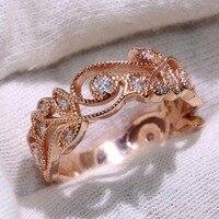 Оптовая продажа Фирменная Новинка Роскошные ювелирные изделия стерлингового серебра 925 Rose Gold Filled AAA CZ цирконий вечерние Для женщин свадебны