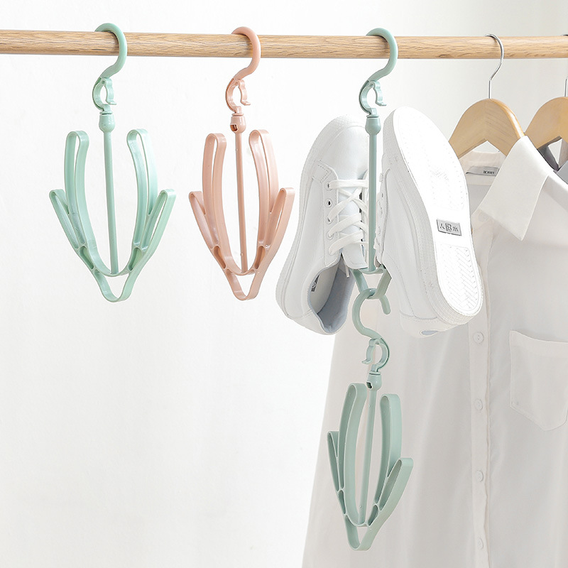 2 Hooks Hanging Shoes Organizer to Hang Shoes or Small Clothes for Drying Outside 7