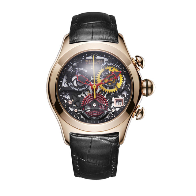 2019 Reef Tiger/RT Luxury Rose Gold Sport Watches Women Fashion Watches Swiss Ronda Movement Skeleton Watches Date RGA7181 | Fotoflaco.net