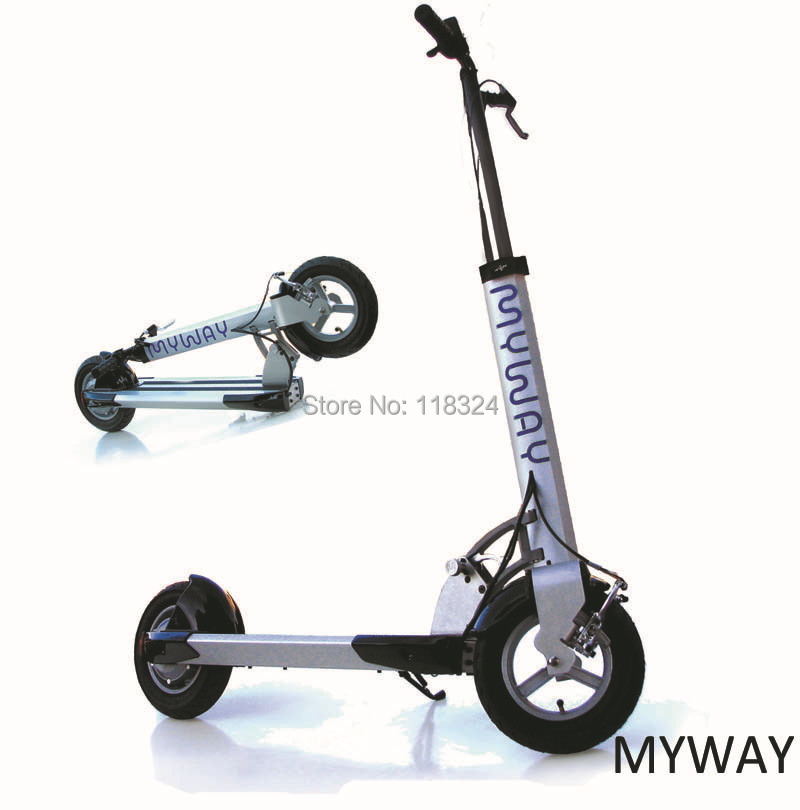 Free shipping real MYWAY electric scooter folding bike adult