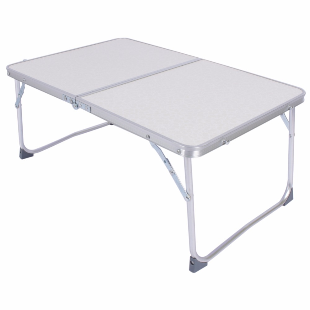1pc white multifunctional light foldable table picnic for Pc bed table