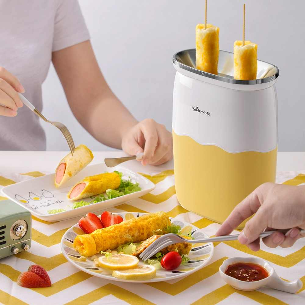 Fully Automatic Egg Roll Machine Breakfast Double Cylinder Small Egg Cup Omelette Pot Plug and Play Non-stick Pan