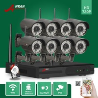 ANRAN P2P 8CH Network WIFI NVR Waterproof 78 IR 720P IP Wireless Camera Video Security Home