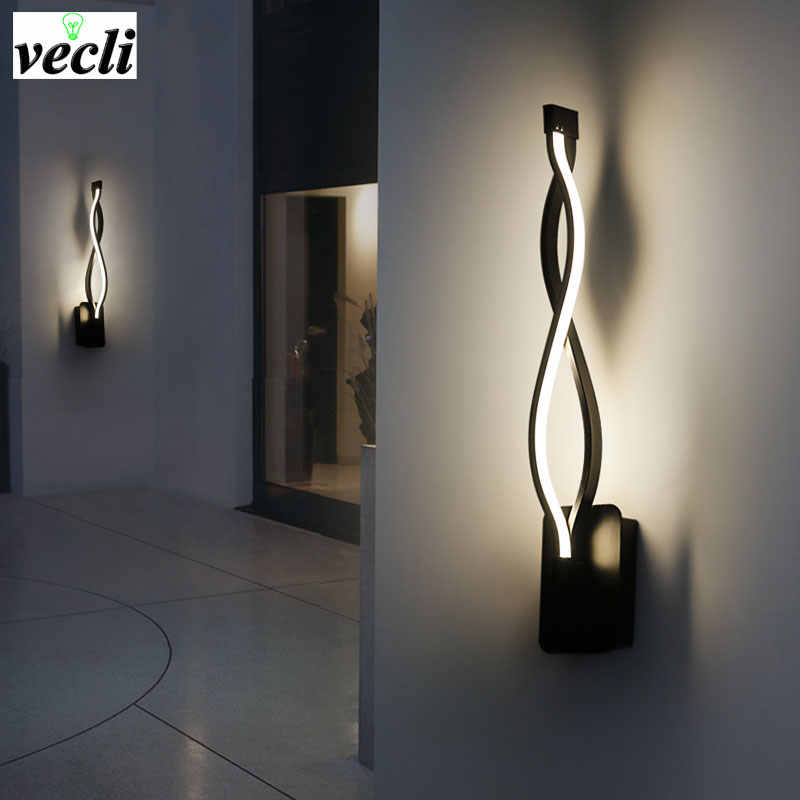 LED Wall Lamp Modern Bedroom Beside Reading Wall Light Indoor Living Room Corridor Hotel Room Lighting Wall Sconce Decoration