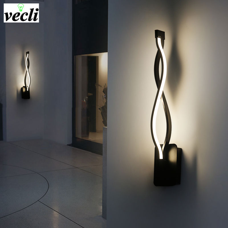 LED Vegglampe Moderne Soverom ved siden av Reading Wall Light Innendørs Stue Korridor Hotel Room Lighting Wall Sconce Decoration