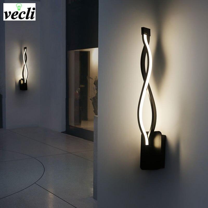 lampada de parede led moderno quarto ao lado leitura luz da parede interior sala estar corredor