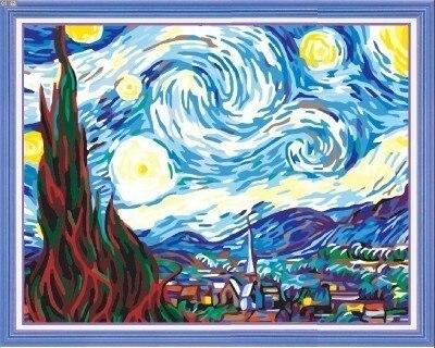 Diy digital oil painting diy decorative painting abstract oil painting world famous paintings - 40 50