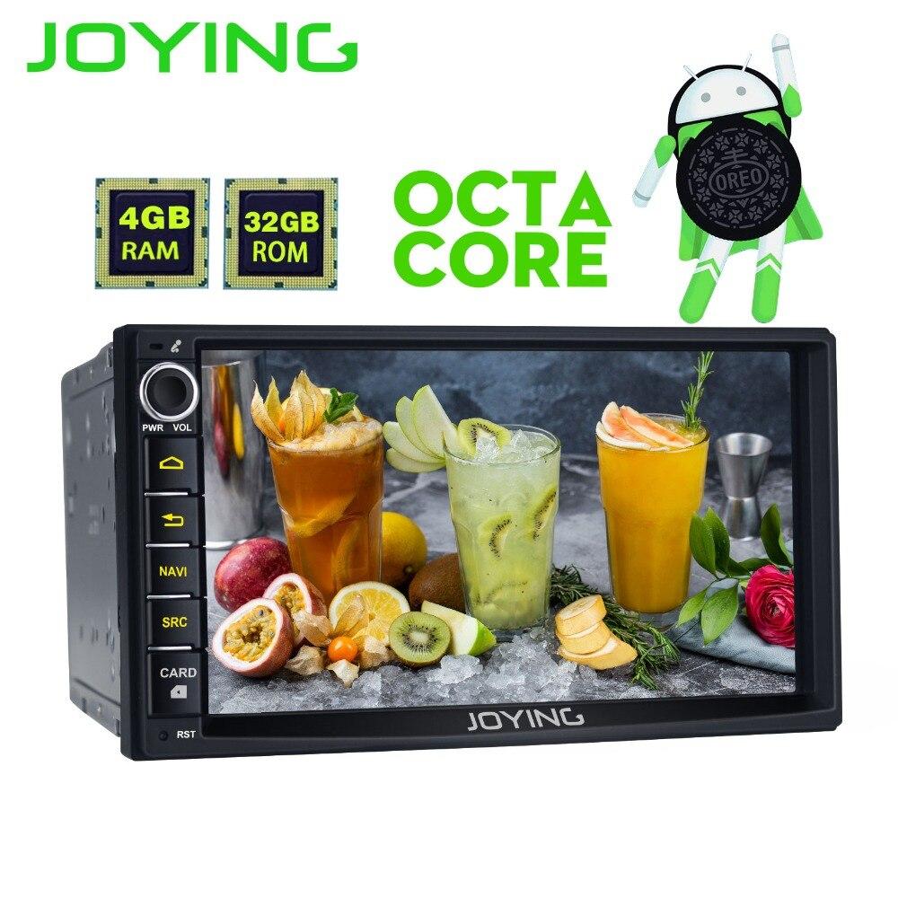 JOYING Dernière 4 GB RAM 2Din HD 7 ''Android 8.0 Universel De Voiture Radio Audio 8 core android Stéréo GPS autoradio soutien Carplay