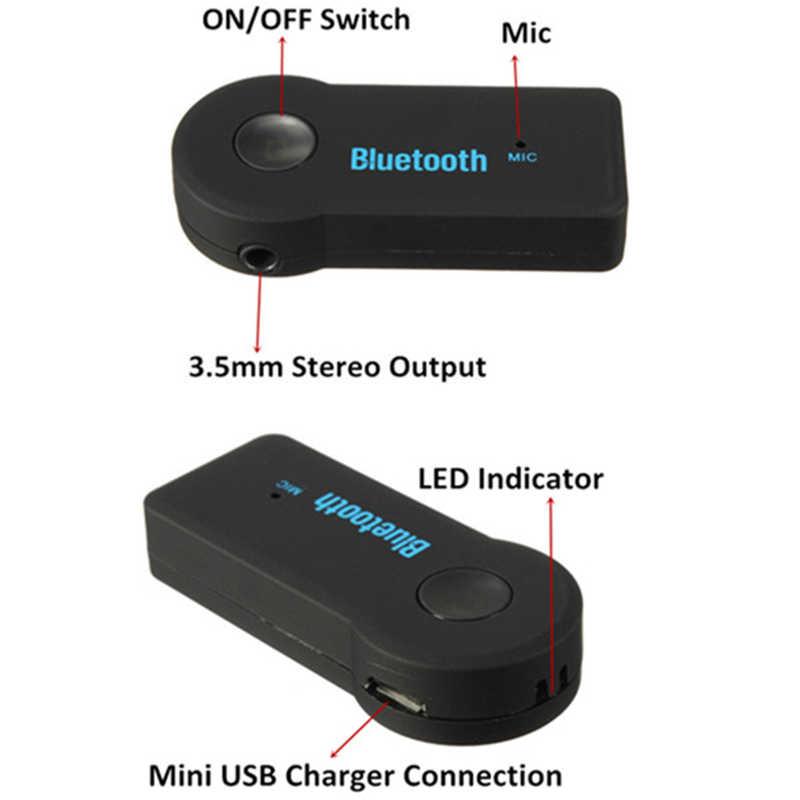 Аудио-Стерео адаптер приемник для автомобиля 3,5 мм AUX домашний динамик MP3 для автомобиля музыкальная звуковая система громкой связи Встроенный микрофон