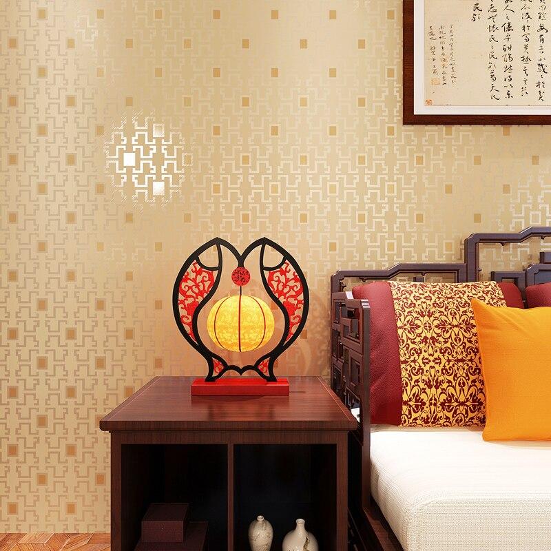 Chinesischen Stil Gitterwand Papier Fr Wnde Klassische Plaid Tapeten Rolle  Wasserdicht Pvc Papier Kontaktieren Moderne Tapete
