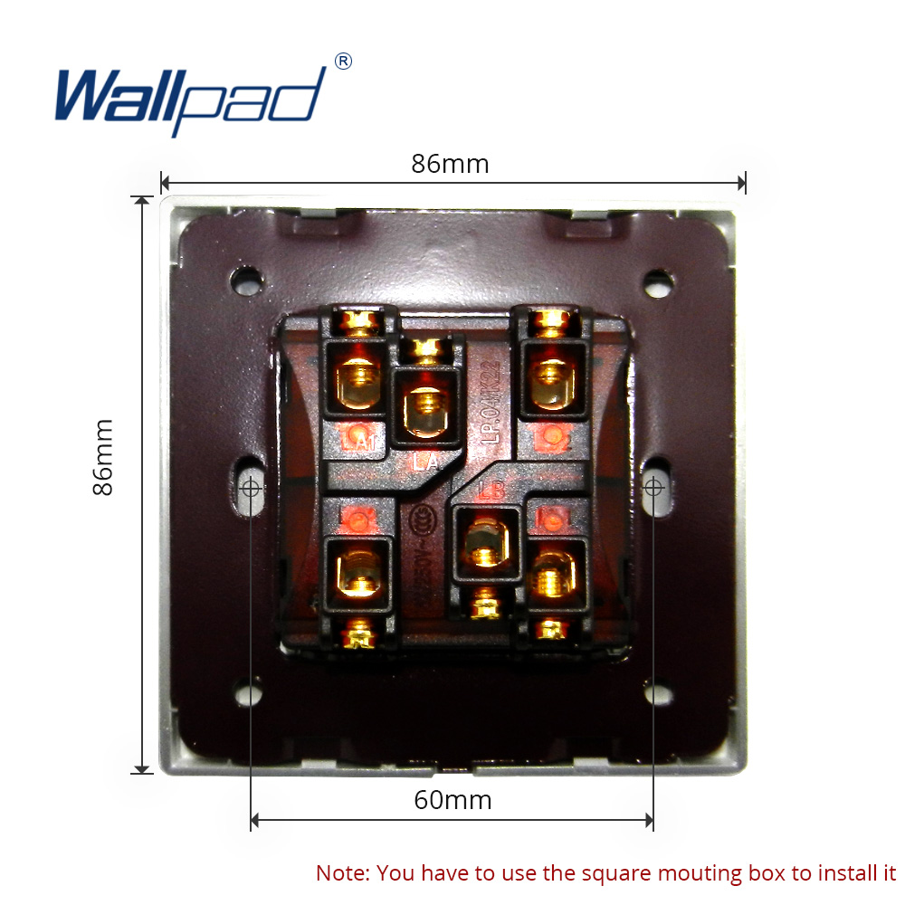 1 Gang 3 Way Intermediate Light Switch Luxury Acrylic Panel With Pole Silver Border Wallpad Push Button Wall 16a Ac110 250v In Switches From Lights