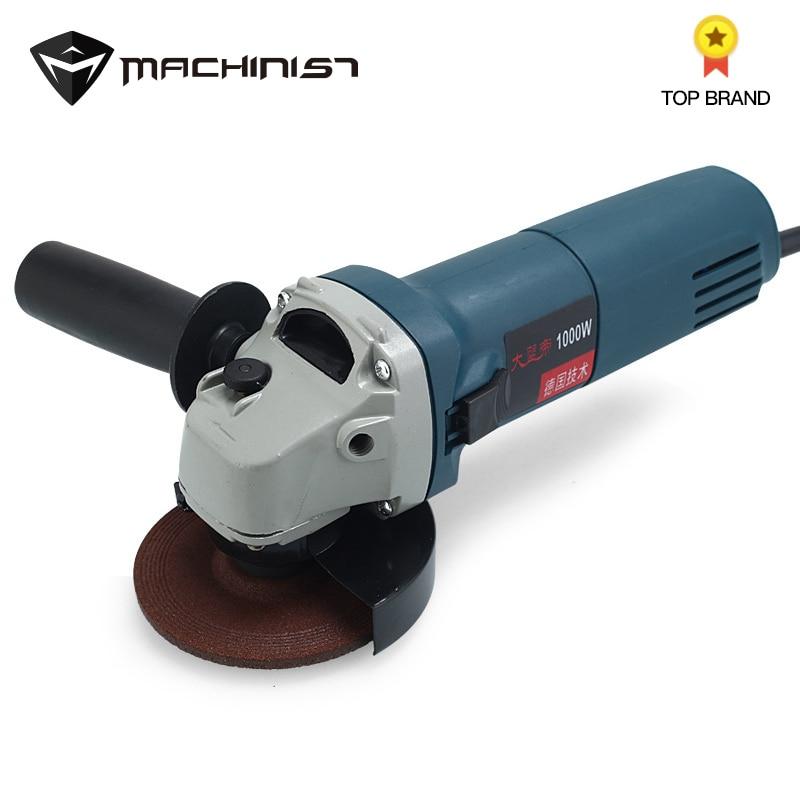 1pc EU Plug 220V 1000W Handheld Electric Angle Grinder Speed Regulating Grinding Machine For Metal Wood Polishing Cutting Tool