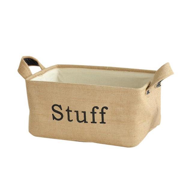 storage bin toy storage box basket organizer with handles for bookshelf cabinet kids room - Toy Storage Boxes