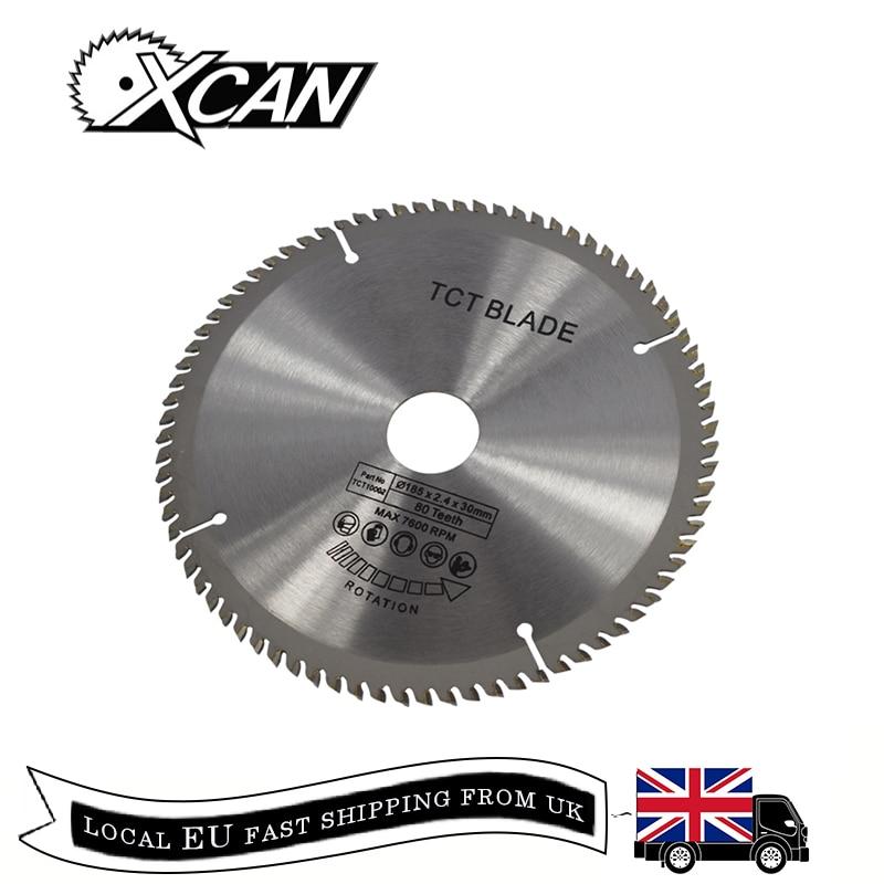 Xcan 1pc 185/210/250mm 60 t/80 t tct madeira circular viu a lâmina de corte de madeira disco carboneto tct viu a lâmina