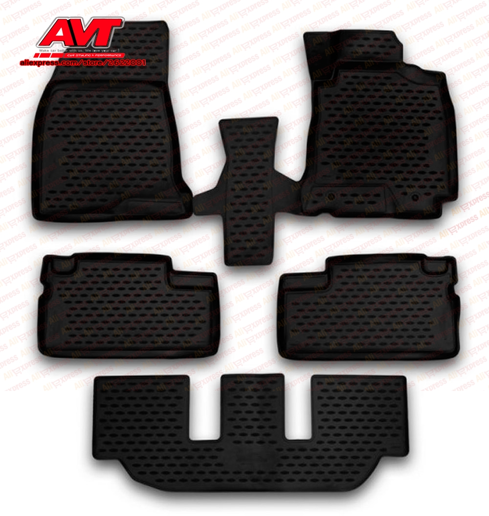 Floor mats for Toyota Wish 2003-2009 5 pcs rubber rugs non slip rubber interior car styling accessories