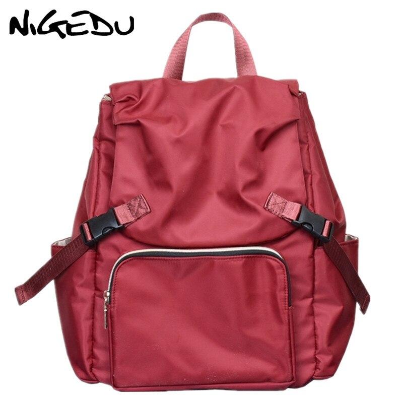 Female Backpack big capacity Schoolbag Backpack for Teenage Girls Laptop Backpacks Waterproof nylon women Travel Bags Casual RED цена