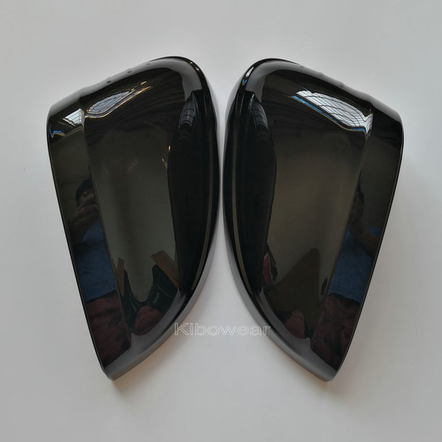 Kibowear For Audi A4 A5 B9 Black Side Wing Mirror Caps 2017 2018 2019 S4 S5 RS5 allroad Quattro replace Covers