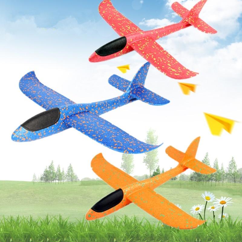 2017 12pcs Diy Hand Throw Flying Glider Planes Foam: Big Size 48cm Hand Throw Flying Glider EPP Foam Plane