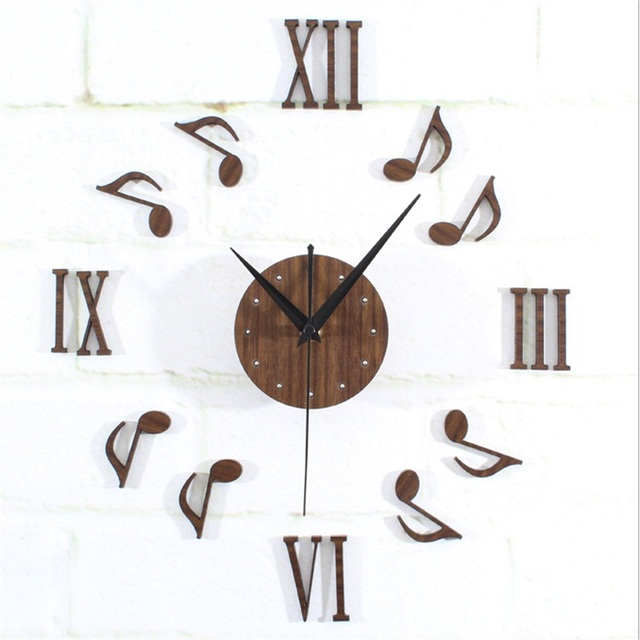 US $28 6  Creative Freedom DIY Note Mute Wall Clock -in Wall Clocks from  Home & Garden on Aliexpress com   Alibaba Group