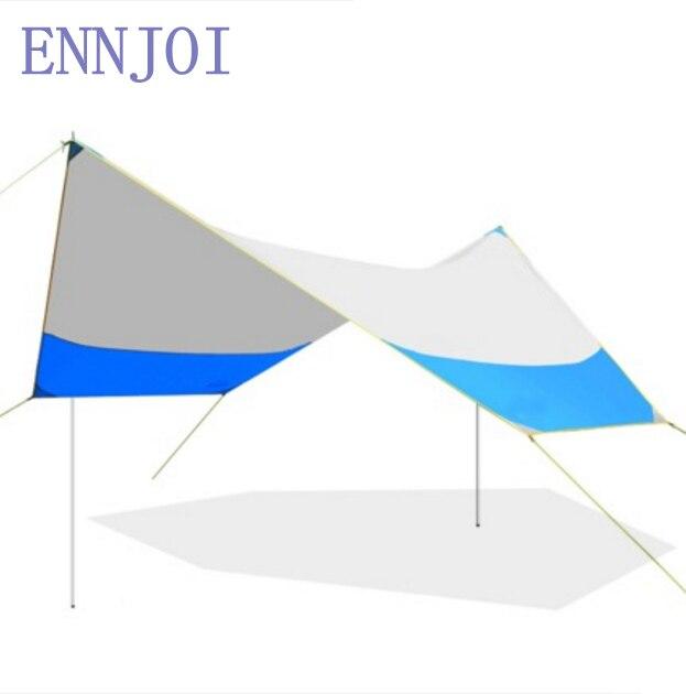 Abri de soleil épais Polyester tissu Camping tente étanche à la pluie abri de soleil parasol auvent pour tentes bâche de voiture couverture de pêche