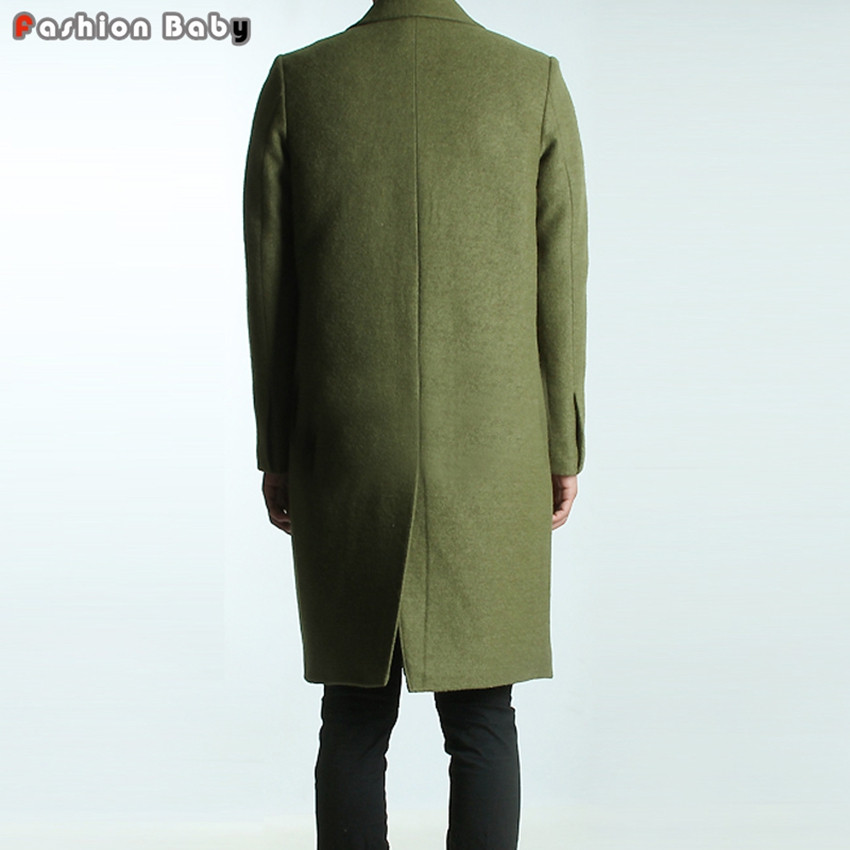 Men-s-Green-Woolen-Trench-Coats-Slim-Fit-Brand-Fashion-British-Style-Windbreaker-Overcoat-Autumn-Winter 1