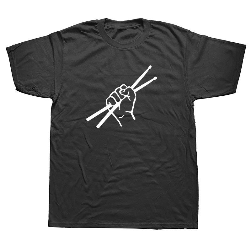 WEELSGAO Drum Drummer T-Shirts Summer Style Short Sleeve Drumming ...