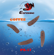 100pcs 1.2cm Esfishing MAGGOT 0.5″ Lure Soft lures Bread Worm bait Ice Fishing Isca Artificial Tackle Silicon Bait  Trout