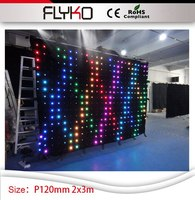 P12 2*3m high quality led party equipment for sale dj booth table dj led video curtain