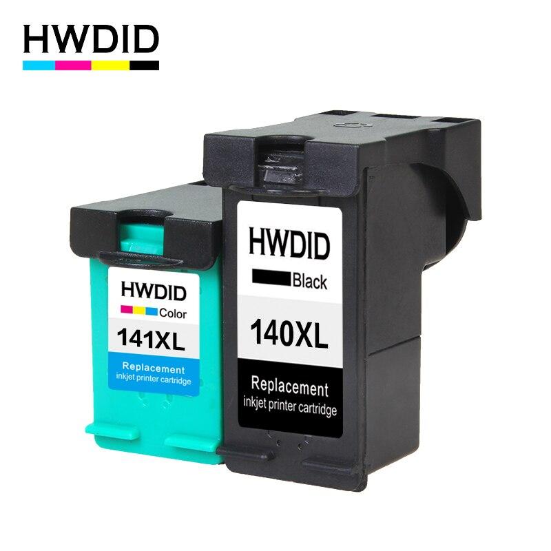HWDID 140XL 141XL cartucho de tinta rellenados para HP 140 141 para Photosmart C4283 C4583 C4483 C5283 D5363 Deskjet D4263