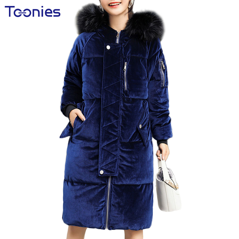 Winter Women Warm Long Parkas 2017 Fashion Mujer Velvet Thickening Cotton Wool Hooded Zipper Padded Coat Manteau Femme Hiver Top women s thick warm long winter jacket parkas mujer hooded cotton padded coat female manteau femme jassen vrouwen winter mz1954