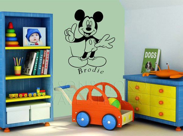 online kaufen gro handel mickey maus tapete aus china. Black Bedroom Furniture Sets. Home Design Ideas