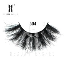 HEXUAN 25mm 3D 100% mink Eyelashes Mink lashes Long Lasting Cross style Lashes Natural Dramatic Volume Extension